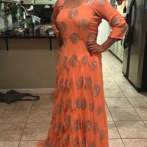 Anarkali custom made suit